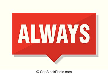 always red tag - always red square price tag
