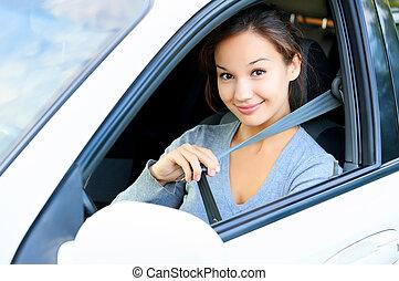 always, seatbelt, ton, attacher