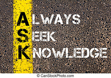 Always Seek Knowledge - ASK Concept
