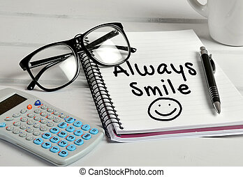 Always Smile word