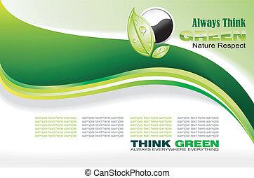 always, vert, penser, carte