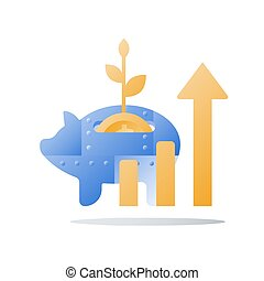 alza, término, financiero, renta, banco, metal, largo,...