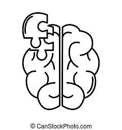 alzheimer , ανθρώπινος , γραμμή , διανοητικός , ρυθμός , νόσος , εικόνα , μειώνω , ικανότητα , εγκέφαλοs , μυαλό , γρίφος