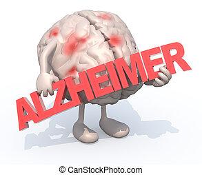"""""""alzheimer"""", cervello, arti, parola, abbracciare"""