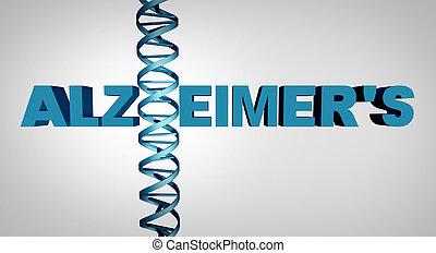 alzheimer, concepto, adn
