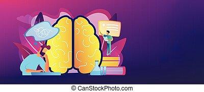 Alzheimer disease concept banner header.