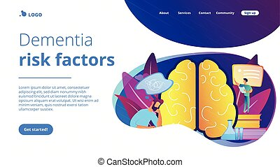 Alzheimer disease concept landing page.