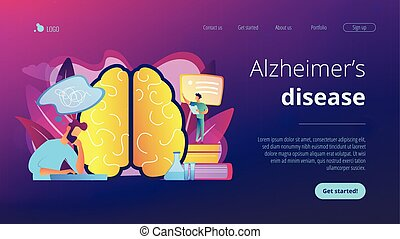 Alzheimer disease concept landing page.