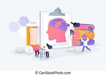 Alzheimer disease concept vector illustration