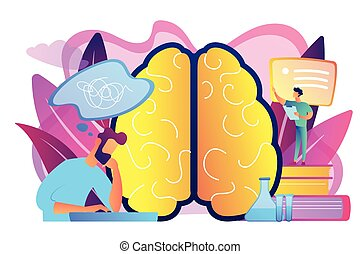 Alzheimer disease concept vector illustration. - Patient...