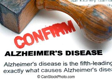 Alzheimer disease confirm