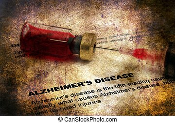 Alzheimer disease grunge concept