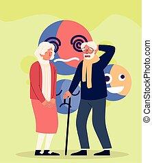 alzheimer elderly couple