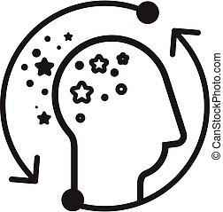alzheimer, icône, maladie