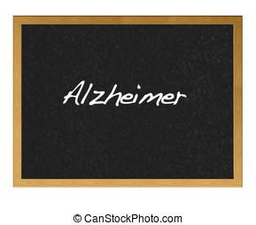 Alzheimer. - Isolated blackboard with alzheimer.