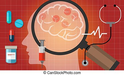 alzheimer parkinson brain cancer medication anatomy medical health care cure disease vector