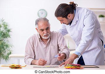 alzheimer, patient, docteur, souffrance, maladie