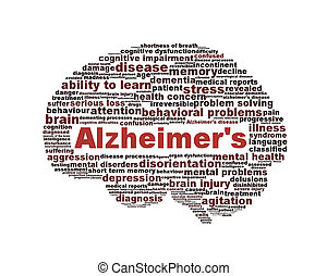 alzheimer, symbol, freigestellt, krankheit, weißes