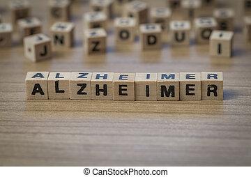 Alzheimer written in wooden cubes - Alzheimer (German...