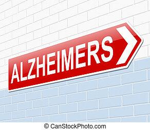 Alzheimers concept.