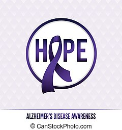 Alzheimer's Disease Awareness Badge