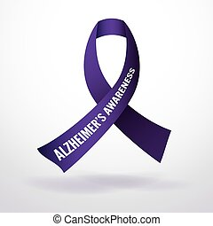 Alzheimer's Disease Awareness Ribbo - Alzheimer's disease...