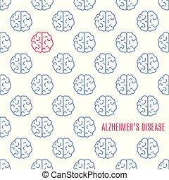 Alzheimer's disease brain poster.
