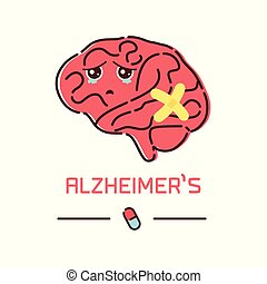 Alzheimer's disease cartoon poster