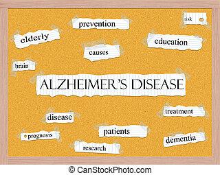 Alzheimer's Disease Corkboard Word Concept