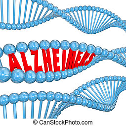 Alzheimer's Disease DNA Strand Medical Research Cure -...