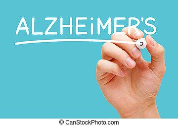 Alzheimers Disease Handwritten With White Marker