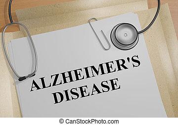 Alzheimer's Disease - medical concept