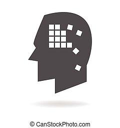 Alzheimer's Disease Mind Icon