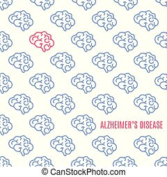 Alzheimer's disease pattern poster