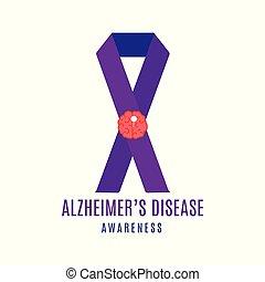 Alzheimer's disease ribbon poster