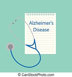 Alzheimer's disease written in notebook