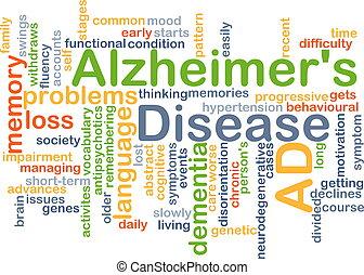 alzheimer's, doença, fundo, conceito