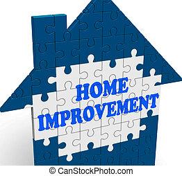 amélioration maison, maison, moyens, rénover, ou, restaurer