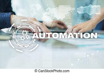 améliorer, innovation, procédés, productivité, automation, concept, technologie