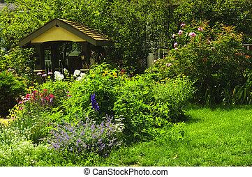 aménagé, jardin
