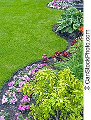 aménagé, yard, jardin