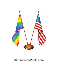 américa, bandeiras