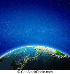 américa, central, espaço