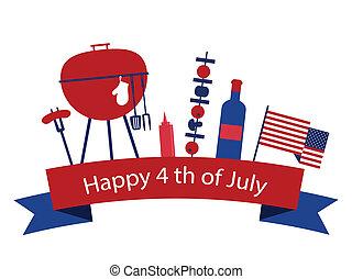 américa, día, independencia