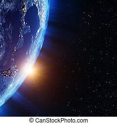 américa, espaço