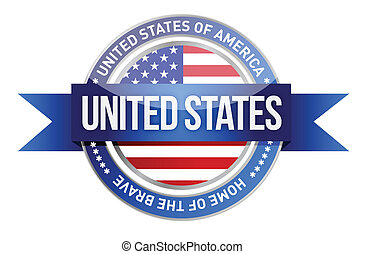 américa, estados, unidas, eua, selo