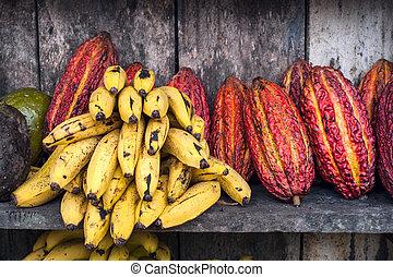 américa, fruta, mercado de calle, latín