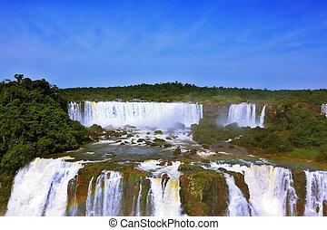 América,  Iguazu,  -, cascadas, rugido, sur