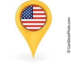 américa, localização
