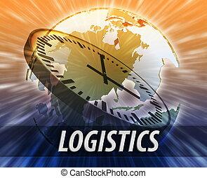 américa, logística, dirección, concepto